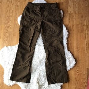 The North Face Brown Cargo pants size 10